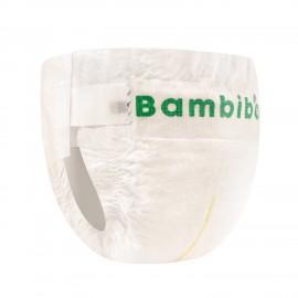 Jednorazowe pieluszki markiBambiboo z włóknem bambusowym w rozmiarze 2 - Mini dla niemowląt o wadze od 3 do 8 kilogramów