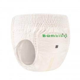 Jednorazowe pieluchomajtki markiBambiboo z włóknem bambusowym w rozmiarze 5 -dla dzieci o wadze 12 kilogramów i więcej