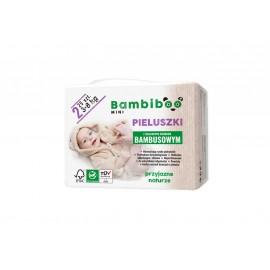 Jednorazowe pieluszki marki Bambiboo z włóknem bambusowym w rozmiarze 2 - Mini  dla niemowląt o wadze od 3 do 8 kilogramów