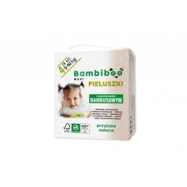 Jednorazowe pieluszki marki Bambiboo z włóknem bambusowym w rozmiarze 4 - Maxi dla dzieci o wadze od 9 do 14 kilogramów