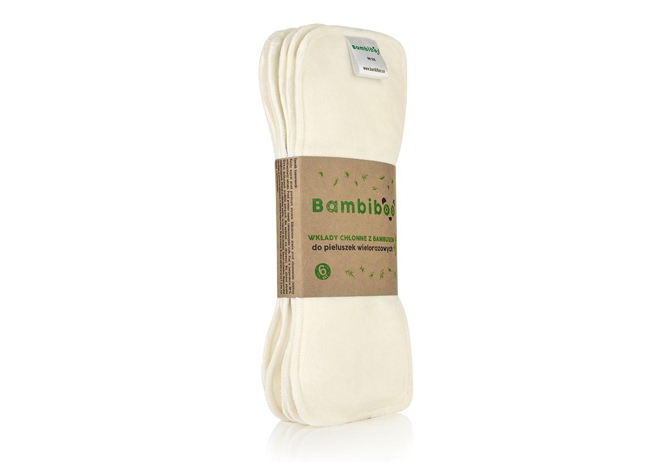 Wkłady chłonne z bambusem do pieluszek wielorazowych Bambiboo