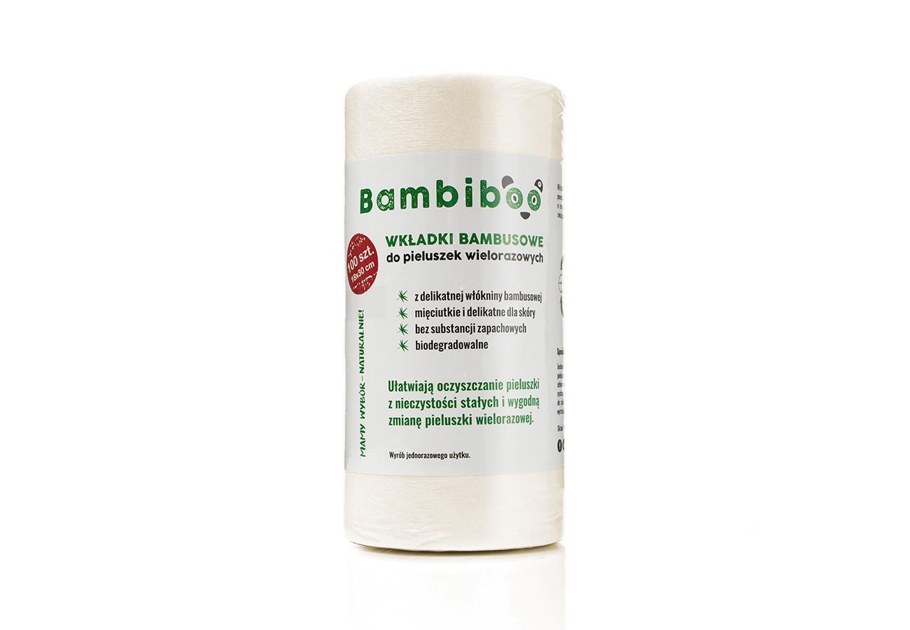 Jednorazowe wkładki (bibułki, papierki) Bambiboo z włókniny bambusowej do pieluszek wielorazowych