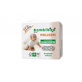 Bambiboo - jednorazowe  pieluszki z włóknem bambusowym dla niemowląt, rozmiar 3 Midi (6-11kg) 8 x 21 szt.