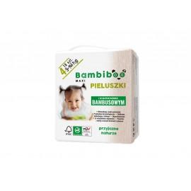 Bambiboo - jednorazowe  pieluszki z włóknem bambusowym dla dzieci, rozmiar 4 Maxi (9-14kg) 8 x 18 szt.