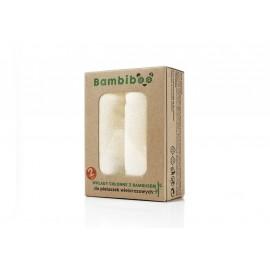 Wkłady chłonne z bambusem do pieluszek wielorazowych, 2 szt.