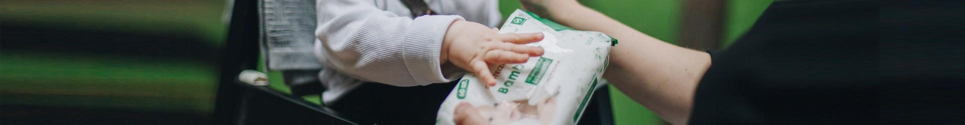 Chusteczki nawilżane z włóknem bambusowym dla dzieci | Bambiboo.eu