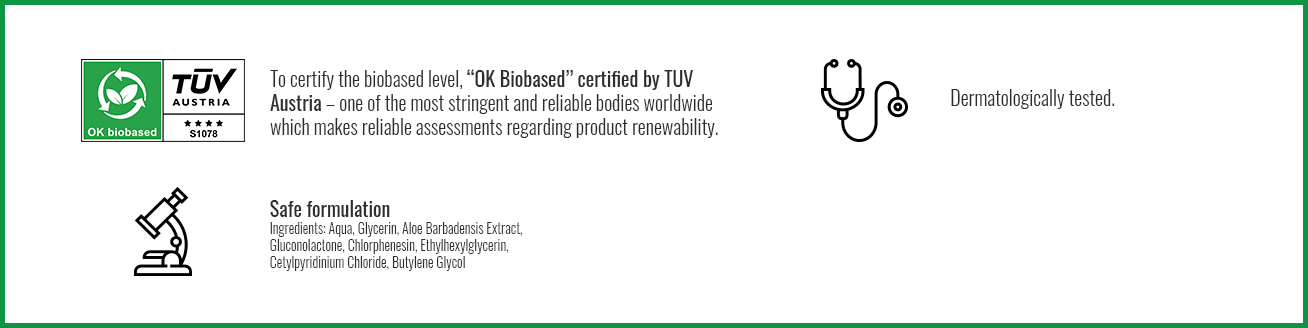 """Bambiboo wet wipes have been given the highest rating in the """"OK Biobased"""" certification process."""